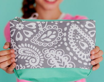 Monogrammed Parker Paisley Cosmetic/Accessory Bag - great for the beach, pool and everyday use...