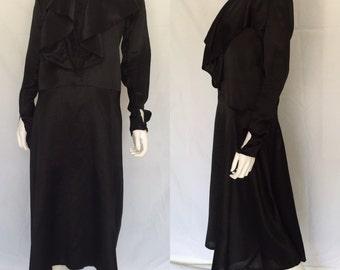 Vintage Back Satin 1920s Drop Waist Dress - Great Gatsby