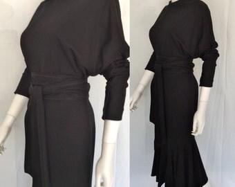 Beautiful Black Vintage Dress - Nicole Miller - Circa 1990s - FREE SHIPPING IN U.S