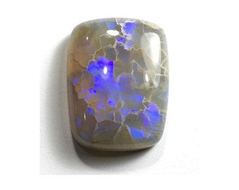 Large Australian Opal 13.20 Carats - Unique Blue Fire - USA Cut
