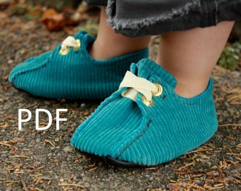 Infant Lace-Ups: PDF Sewing Pattern and  Complete Tutorial