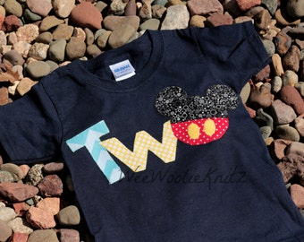 Mickey Mouse Inspired Birthday Shirt, 2nd Birthday, Disney Mickey Mouse, 1st 2nd Birthday, Birthday Shirt, Boys, Girls