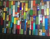 Custom stained glass panel insert