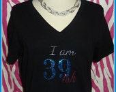 40th birthday tank top OR tshirt also 29 ish 39 ish 49ish Rhinestone 40 birthday tank top 40th birthday shirt girls night birthday weekend