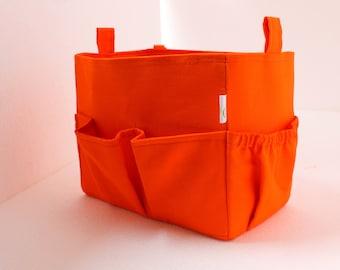 Large Bag organizer - Purse organizer insert in Orange fabric