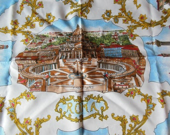 Roma Map and Sites Scarf