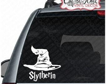 "Harry Potter ""Sorting Hat Slytherin"" Vinyl Car, Laptop, Decal Sticker"