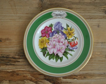 Vintage china plate - 1981 Chelsea Flower Show - The Royal Horticultural Society