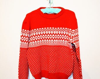 Vintage Sweater Emoji on Red