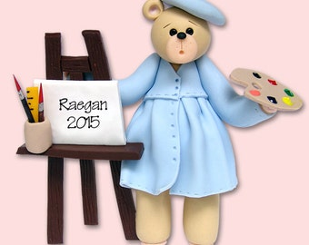 Belly Bear ARTIST Personalized Christmas Ornament Hand Painted RESIN