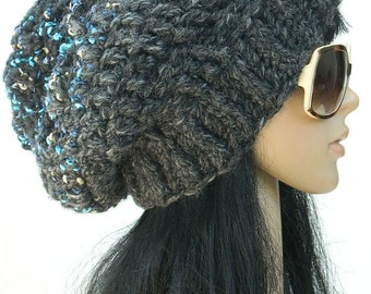 Black Winter Beanies Thick Winter Hats Teen Girls Knit Hat Women's Winter Hats Turquoise Beanies
