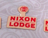 Nixon Lodge Election Memorabilia Vintage Pin Tab Buttons American Presidential Election Uncle Sam Red and White Group of 3