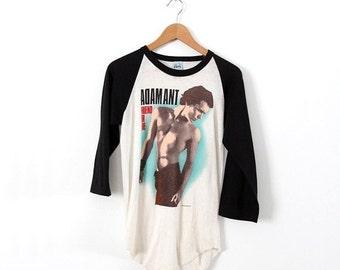 SALE original 1980s Adam Ant t-shirt, vintage rock tee