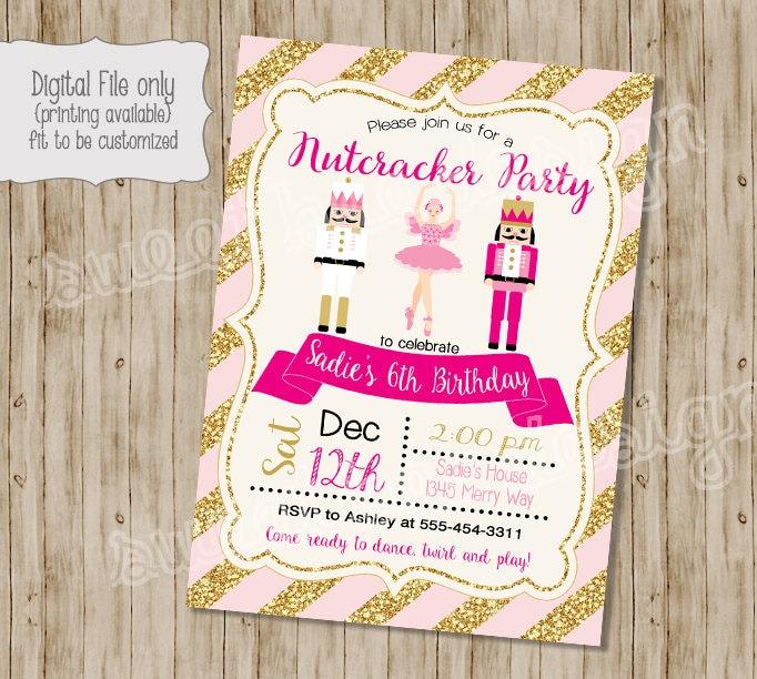 Nutcracker Invitation Nutcracker Birthday Invitation