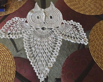 Crochet Pattern Instruction for Owl home decoration in charts and written row by row. Dream Catcher.