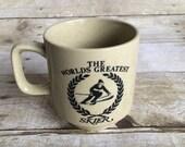 Retro The Worlds Greatest Skier Mug - Stoneware Cup -