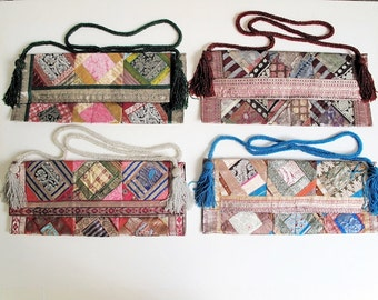 Shoulder Bags from Recycled Patchwork Pillow Covers by the Old Silk Route