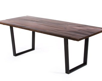 Trenton Reclaimed Wood Dining Table - Dark Walnut - Custom Sizes & Finishes Available