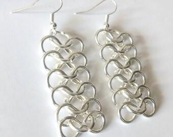 Chainmail Dangle Earrings