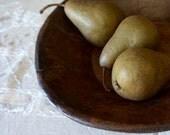 Wooden Bowl  Primitive Bowl  Vintage Hand Carved Bowl