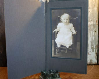 Vintage Photograph - Girl in Chair - Assemblage, Mixed Media, Altered Art