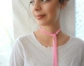 Velvet Ribbon, Velvet Choker,collar necklace, Victorian choker, pink velvet choker, ribbon choker, velvet ribbon, necktie