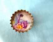 fairy bottle cap brooch