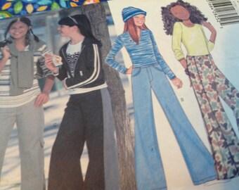 Butterick Pattern 5720, child's jeans pattern, girl's jeans pattern, sizes 12 14 16