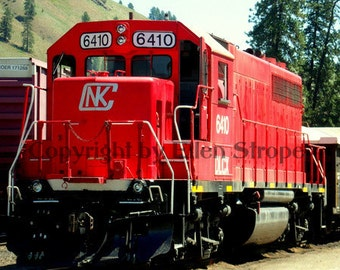 PHOTO note card, Trains, Red, Train decor, Train note card, digital, photography, Train engine, blank cards, paper goods