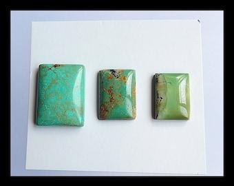 SALE,3 PCS Turquoise Gemstone Cabochon,8.45g