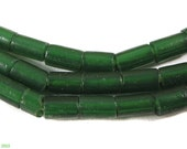 Green Trade Beads Translucent Flat End Africa 27 Inch 101036