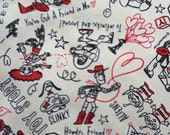 Toy story  printed Cream white  colour 20 years anniversary fabric half yard