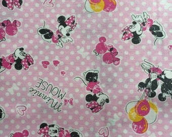 Half yard  Mickey  Disney fabric Mickey mouse printed winter new fabric pink colour