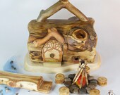 Willodel Real Log Gnome Home Summer Camp Set