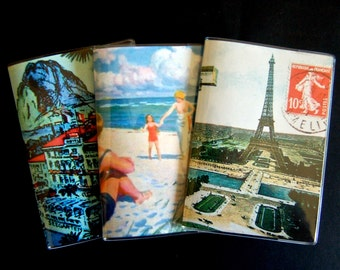 Passport Cover: Vintage Paris, Beach, and Resort Travel Designs, Antique Multi-Color Artwork