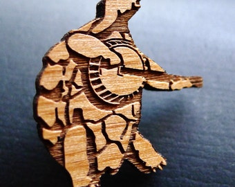 Banjo Terrapin - Wooden Hat Pin