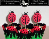 50% off SVG Ladybug Cupcake Topper and Wrapper