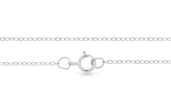 Neck Chains Sterling Silver 1.5x1.2mm 18 Inch Flat Cable Chain - 5pcs (2721)