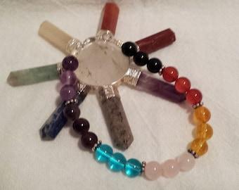7 3/4 Inch Chakra Bracelet