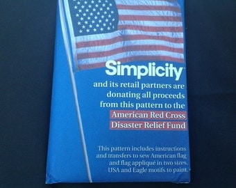 September 11th Commemorative AMERICAN FLAG PATTERN- benefited the Red Cross-rare - Simplicity