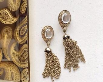 70's Vintage Tassel Statement Earrings