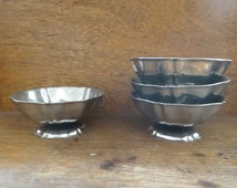Vintage French Metal Pudding Sweet Ice Cream Dish Bowl Condiment Dish Dishes Serving circa 1970's / English Shop