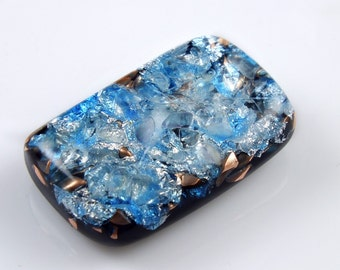 Pocket Orgonite Orgone Generator.. Tibetan & Arkansas Crystals, Phenacite, Petalite, Fluorite, Tourmaline, Elite Shungite, Gold Powder (d31)