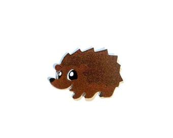 Hedgehog iron on patch