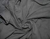 Black Cotton Lycra Solid Knit Fabric