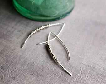 Simplicity Silver Wrap Earrings, Minimalist Earrings, Modern Minimal Silver Earrings, Sterling Silver Earrings, Balsamroot Jewelry