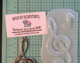 Treble Clef  Music note  Flexible Plastic Resin Mold set