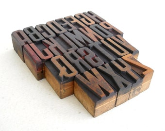 25% OFF - A to Z - Vintage Letterpress Wood Type Collection - LP51