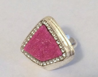 LOVE SALE Pink Cobalto Calcite Sterling Silver Ring