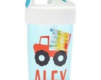Kids Personalized 13oz Water Bottle with Straw- Kids Water Bottle- Choose Your Design- Great Party Favor